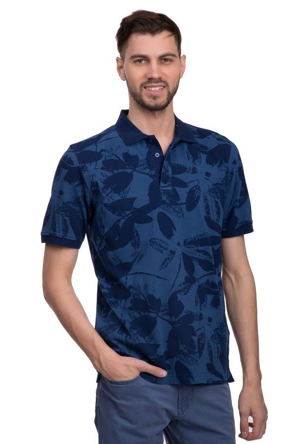 Поло Casa ModaПоло<br>Стильное поло для мужчин от бренда Casa Moda. Изделие выполнено в синих оттенках с тропическим принтом. Это поло с отложным воротником на пуговицах и рукавами длиной до середины плеча, дополненными резинками темно-синего цвета. Материал - 100% хлопок.<br><br>Размер RU: 42-44<br>Пол: Мужской<br>Возраст: Взрослый<br>Материал: хлопок 100%<br>Цвет: Синий