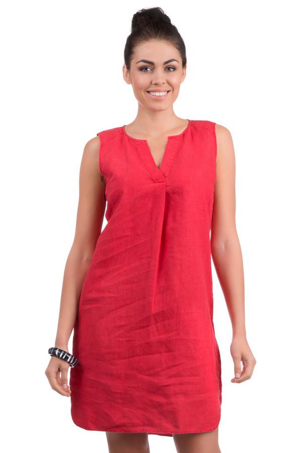 Платье OuiПлатья<br>Стильное женское платье от бренда Oui. Данное платье пошито из ткани кораллового цвета, которая на 100% состоит из льна. По покрою это платье-футляр длиной до колена, без рукавов. У данной модели круглый вырез с V-образным разрезом.<br><br>Размер RU: 42<br>Пол: Женский<br>Возраст: Взрослый<br>Материал: лен 100%<br>Цвет: Красный