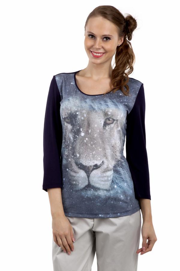 Лонгслив ApanageЛонгсливы<br>Черный лонгслив Apanage декорирован фотопринтом с изображением льва. Изделие дополнено: круглым вырезом и укороченными рукавами. Лонгслив выполнен из высококачественного вискозного материала с добавлением эластана.<br><br>Размер RU: 50<br>Пол: Женский<br>Возраст: Взрослый<br>Материал: эластан 5%, вискоза 95%<br>Цвет: Разноцветный
