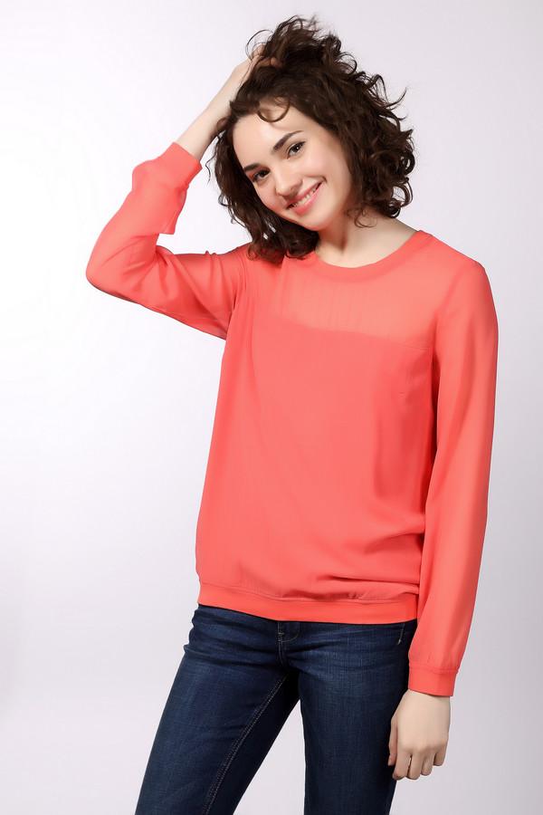 Блузa s.Oliver DENIMБлузы<br>Оранжевая блуза от бренда s.Oliver свободного фасона. Прекрасно подойдет для ношения в офисе и на любых деловых встречах. Состоит из полиэстера. Подойдёт лёгким на подъём, сосредоточенным натурам, жизненной целью которых является успех. Оптимистичная расцветка способствует прекрасному настроению на протяжении всего рабочего дня. Рукав – длинный. Изделие дополнено приятными, свободными манжетами, не стесняющими движения рук.