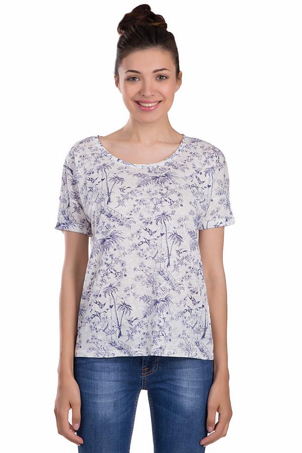Футболка OuiФутболки<br>Легкая футболка от бренда Oui белого цвета. Это изделие выполнено из натурального льна. Данная модель предназначена для летнего сезона. Дополнена изображением пальм синего цвета на белом фоне и сзади швом из красной нитки. Эта футболка свободного кроя. Придаст образу легкости и беззаботности.<br><br>Размер RU: 48<br>Пол: Женский<br>Возраст: Взрослый<br>Материал: лен 100%<br>Цвет: Синий