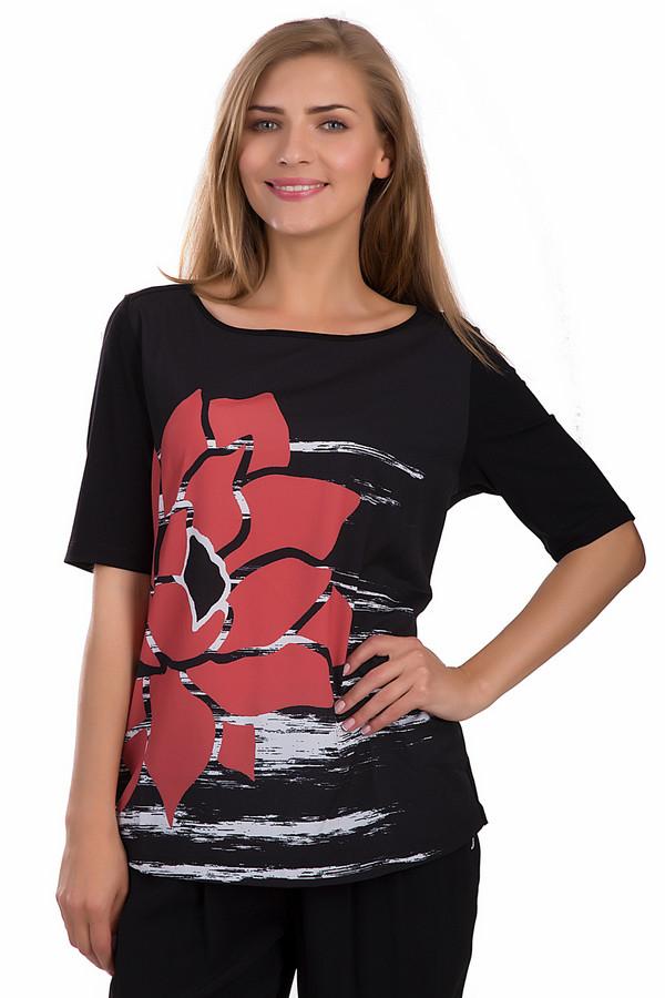 Блузa SamoonБлузы<br>Женская блуза от бренда Samoon черного цвета. Это изделие выполнено из эластана и вискозы. Данная модель предназначена для летнего сезона. Дополнена белыми линиями и большим красным цветком сбоку, молнией сверху на спине. Блуза свободного кроя и с немного удлиненными рукавами. Хорошо сочетается с разной одеждой.<br><br>Размер RU: 50<br>Пол: Женский<br>Возраст: Взрослый<br>Материал: эластан 8%, вискоза 92%<br>Цвет: Разноцветный