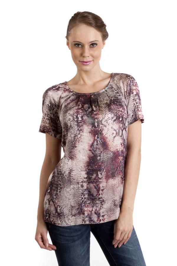 Футболка ApanageФутболки<br>Бордовая женская футболка Apanage свободного кроя с хищным принтом. Изделие дополнено: круглым вырезом и короткими рукавами.<br><br>Размер RU: 52<br>Пол: Женский<br>Возраст: Взрослый<br>Материал: полиэстер 100%<br>Цвет: Разноцветный