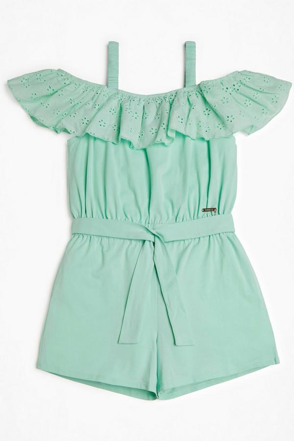 комбинезон с брюками guess для девочки, зеленый