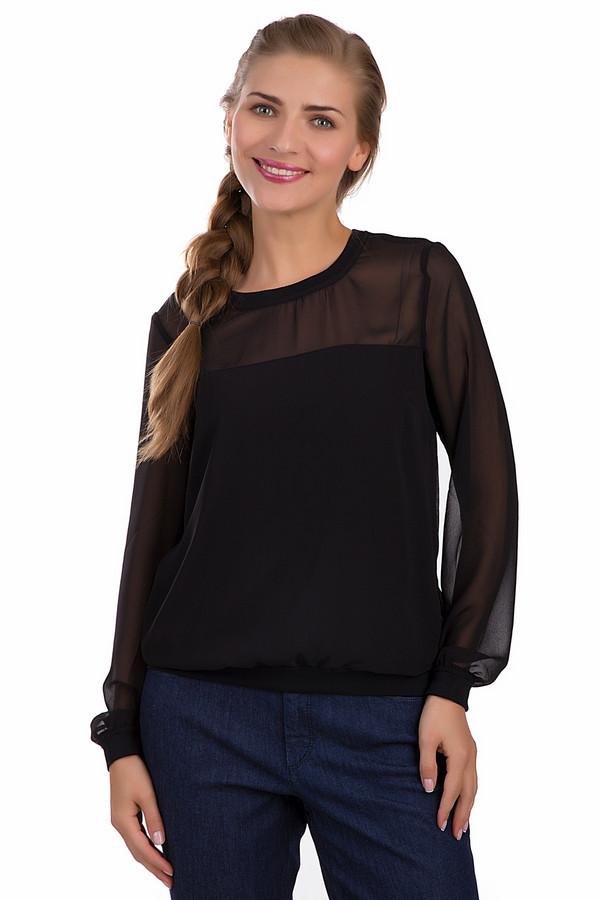 Блузa s.Oliver DENIMБлузы<br>Черная блуза от бренда s.Oliver свободного фасона. Прекрасно подойдет для ношения в офисе и на любых деловых встречах. Состоит из полиэстера. Подойдёт лёгким на подъём, сосредоточенным натурам, жизненной целью которых является успех. Оптимистичная расцветка способствует прекрасному настроению на протяжении всего рабочего дня. Рукав – длинный. Изделие дополнено приятными, свободными манжетами, не стесняющими движения рук.<br><br>Размер RU: 42-44<br>Пол: Женский<br>Возраст: Взрослый<br>Материал: полиэстер 100%<br>Цвет: Чёрный