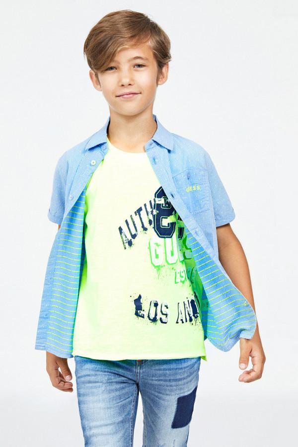 рубашка guess для мальчика, разноцветная
