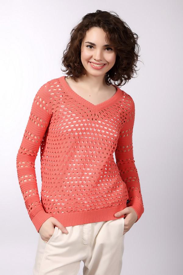 Пуловер s.Oliver DENIMПуловеры<br>Женский пуловер от бренда s.Oliver DENIM морковного красного цвета. Материалы, из которых сделана эта модель, хлопок и полиакрил. Она предназначена для демисезонного периода. Дополнена не глубоким V-образным вырезом и дырочками по всему изделию. Такой пуловер будет интересным и ярким акцентом в образе.<br><br>Размер RU: 38-40<br>Пол: Женский<br>Возраст: Взрослый<br>Материал: хлопок 50%, полиакрил 50%<br>Цвет: Красный