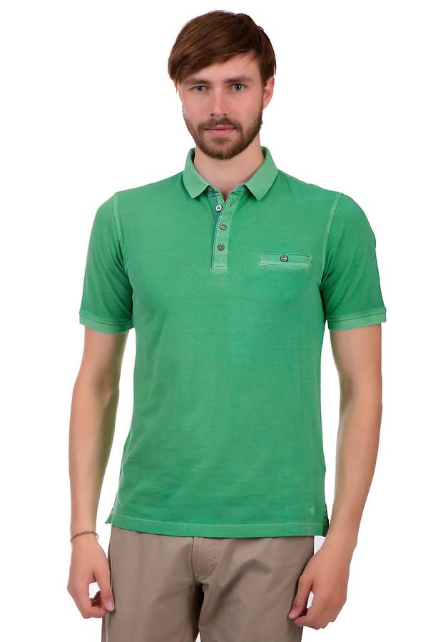 Поло VentiПоло<br>Мужское поло от бренда Venti. Это поло зеленого цвета, пошитое из 100% хлопка. У данной модели рукава длиной до середины плеча и отложной воротник на пуговицах. Изделие дополнено нагрудным карманом на пуговице, а также пуговицей на воротнике сзади.<br><br>Размер RU: 50-52<br>Пол: Мужской<br>Возраст: Взрослый<br>Материал: хлопок 100%<br>Цвет: Зелёный