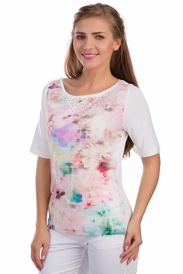 Блузa Betty BarclayБлузы<br>Яркая блуза Betty Barclay белого, розового, зеленого и сиреневого цветов. Это изделие было выполнено из эластана и вискозы. Данная модель предназначена для летнего сезона. Дополнена бледным цветочным рисунком и серебристыми камнями. У изделия не глубокий полукруглый вырез и удлиненные рукава.<br><br>Размер RU: 52<br>Пол: Женский<br>Возраст: Взрослый<br>Материал: эластан 8%, вискоза 92%<br>Цвет: Разноцветный