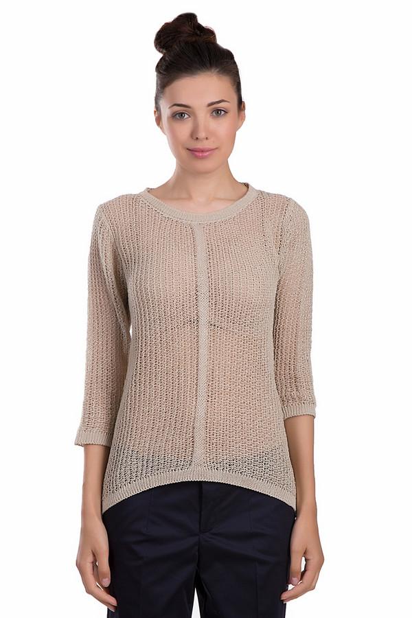 Пуловер Betty BarclayПуловеры<br>Стильный пуловер Betty Barclay бежевого цвета. Данная модель была сделана из таких материалов: хлопка, полиамида, полиакрила и полиэстера. Это изделие является демисезонным. Пуловер был выполнен красивой ажурной вязкой. Его рукава немного укорочены. У этой модели не глубокий и полукруглый вырез.