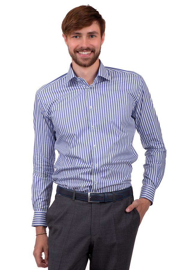 Рубашка с длинным рукавом Flavio NavaДлинный рукав<br>Стильная рубашка на пуговицах для мужчин, от бренда Flavio Nava. Изделие выполнено из 100% хлопка, и сшито по классическому крою с отложным воротником и длинным рукавом.<br><br>Размер RU: 44<br>Пол: Мужской<br>Возраст: Взрослый<br>Материал: хлопок 100%<br>Цвет: Синий