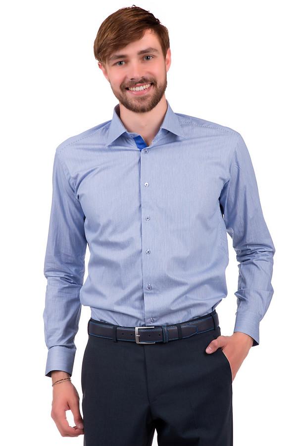 Рубашка с длинным рукавом Flavio NavaДлинный рукав<br>Рубашка на пуговицах для мужчин, от бренда Flavio Nava. Это рубашка белого цвета в ярко-синюю мелкую вертикальную полоску. Она сшита по классическому крою с длинным рукавом и отложным воротником.<br><br>Размер RU: 42<br>Пол: Мужской<br>Возраст: Взрослый<br>Материал: хлопок 100%<br>Цвет: Синий