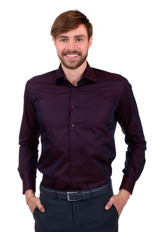 Рубашка с длинным рукавом Flavio NavaДлинный рукав<br>Модная вечерняя мужская рубашка от бренда Flavio Nava. Изделие выполнено в темно-бордовом оттенке с мелкими ярко-красными вкраплениями. Она сшита по классическому крою с отложным воротником и длинным рукавом. Материал - 100% хлопок.<br><br>Размер RU: 41<br>Пол: Мужской<br>Возраст: Взрослый<br>Материал: хлопок 100%<br>Цвет: Красный