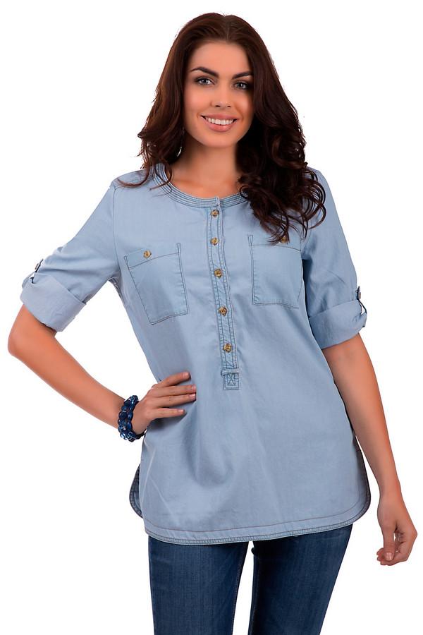 Блузa LebekБлузы<br>Простая и стильная женская блуза от бренда Lebek изготовлена из хлопка и Лио цела. Предназначена для ношения в летнее время года. Изделие дополнено коротким рукавом и пуговицами на груди, а также двумя карманами. Цвет изделия – голубой. По бокам – небольшие декоративные округлые разрезы.<br><br>Размер RU: 48<br>Пол: Женский<br>Возраст: Взрослый<br>Материал: хлопок 38%, лиоцел 62%<br>Цвет: Голубой