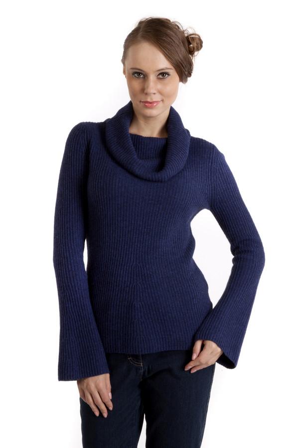 Пуловер PezzoПуловеры<br>Теплый пуловер Pezzo темно-синего цвета приталенного кроя с вязанным узором. Изделие дополнено: объемным воротником-хомут и рукавами-пагода. Без труда согреет в холодную погоду.<br><br>Размер RU: 46<br>Пол: Женский<br>Возраст: Взрослый<br>Материал: вискоза 33%, хлопок 18%, полиамид 23%, шерсть 18%, кашемир 4%, ангора 4%<br>Цвет: Синий