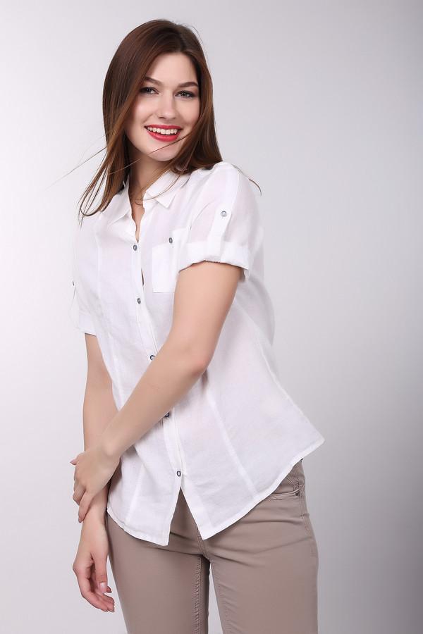 Блузa LebekБлузы<br>Деловая блуза от бренда Lebek белого цвета незаменима в жаркое время года. Короткий рукав освежает строгий фасон изделия. 100% лен обеспечивает необходимую прохладу. Подойдет как для работы, так и для прогулок. Застегивается на пуговицы. Изделие дополнено декоративными пуговицами синего цвета на рукавах, одним карманом и классическим воротом.<br><br>Размер RU: 44<br>Пол: Женский<br>Возраст: Взрослый<br>Материал: лен 100%<br>Цвет: Белый