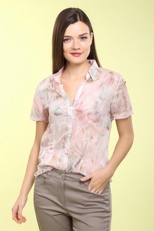 Блузa Betty BarclayБлузы<br>Женственная блуза Betty Barclay розового, оранжевого и зеленого цветов. Это изделие было выполнено из натурального хлопка. Данная модель предназначена для летнего сезона. Дополнена красивым цветочным рисунком. Застегивается с помощью маленьких розовых пуговиц. Такая блуза придаст любому летнему образу легкости и женственности.<br><br>Размер RU: 42<br>Пол: Женский<br>Возраст: Взрослый<br>Материал: хлопок 100%<br>Цвет: Разноцветный