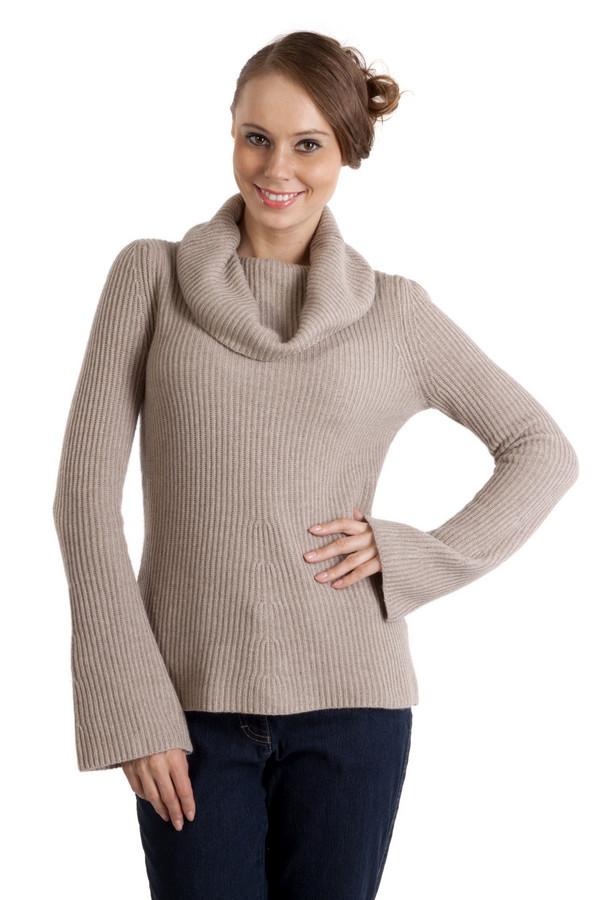 Пуловер PezzoПуловеры<br>Теплый пуловер Pezzo бежевого цвета приталенного кроя с вязанным узором. Изделие дополнено: объемным воротником-хомут и рукавами-пагода. Без труда согреет в холодную погоду.<br><br>Размер RU: 42<br>Пол: Женский<br>Возраст: Взрослый<br>Материал: вискоза 33%, хлопок 18%, полиамид 23%, шерсть 18%, кашемир 4%, ангора 4%<br>Цвет: Бежевый