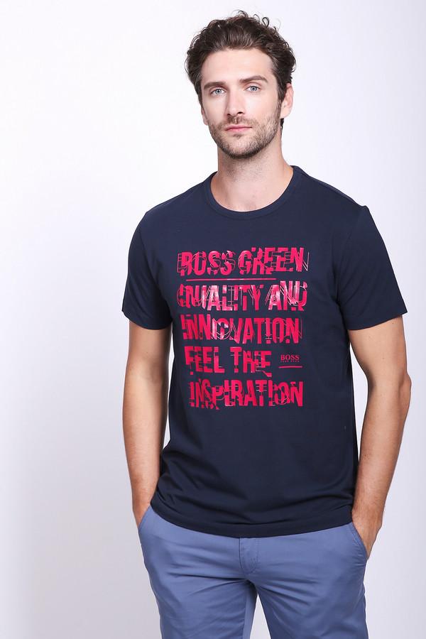 Купить Футболкa Boss Green, Перу, Красный, эластан 5%, хлопок 95%