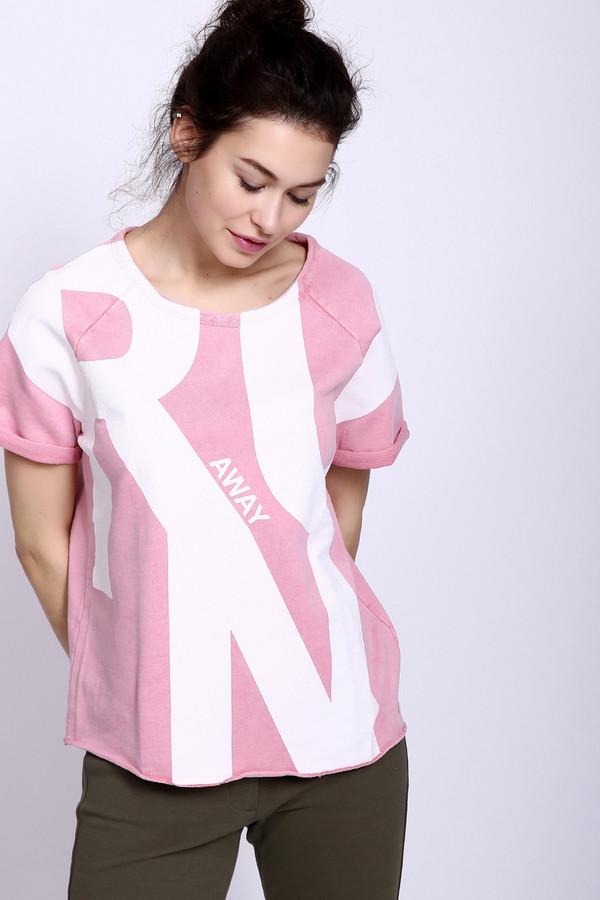 Футболка Boss OrangeФутболки<br>Спортивная женская футболка Boss Orange розового цвета. Это изделие было выполнено из хлопка и полиэстера. Данная модель предназначена для летнего сезона. Она дополнена белыми большими буквами «R», «U» и «N» и мелкой надписью «away». Футболка свободного кроя. Не сковывает движений. Отлично подойдет для занятий спортом или для комфортной прогулки.<br><br>Размер RU: 48-50<br>Пол: Женский<br>Возраст: Взрослый<br>Материал: хлопок 60%, полиэстер 40%<br>Цвет: Белый