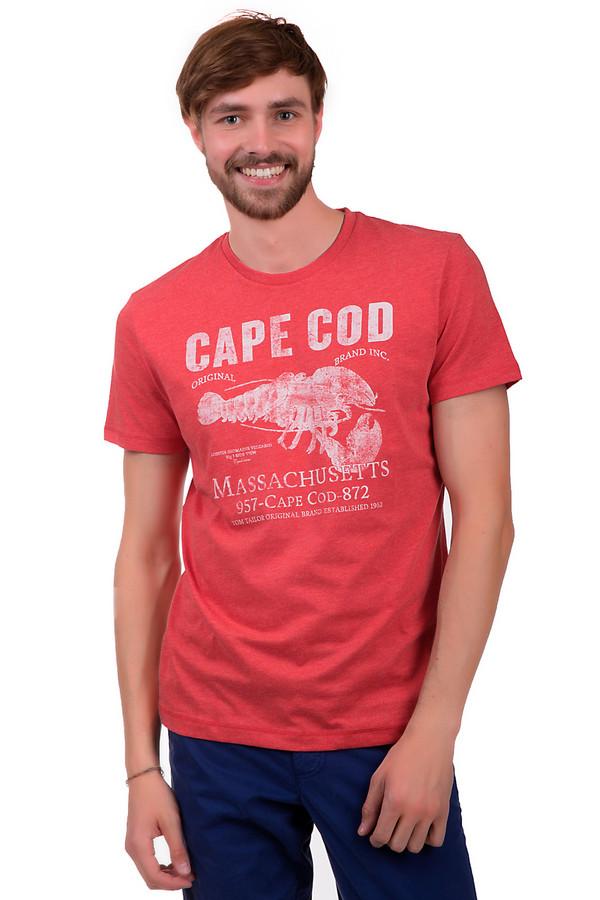 Футболкa Tom TailorФутболки<br>Футболка для мужчин, от бренда Tom Tailor. Это футболка красного цвета, декорированная принтом белого цвета. Данная футболка пошита из смеси хлопка и полиэстера. Изделие дополнено коротким рукавом длиной до середины плеча, а также круглым вырезом.<br><br>Размер RU: 44-46<br>Пол: Мужской<br>Возраст: Взрослый<br>Материал: хлопок 60%, полиэстер 40%<br>Цвет: Белый
