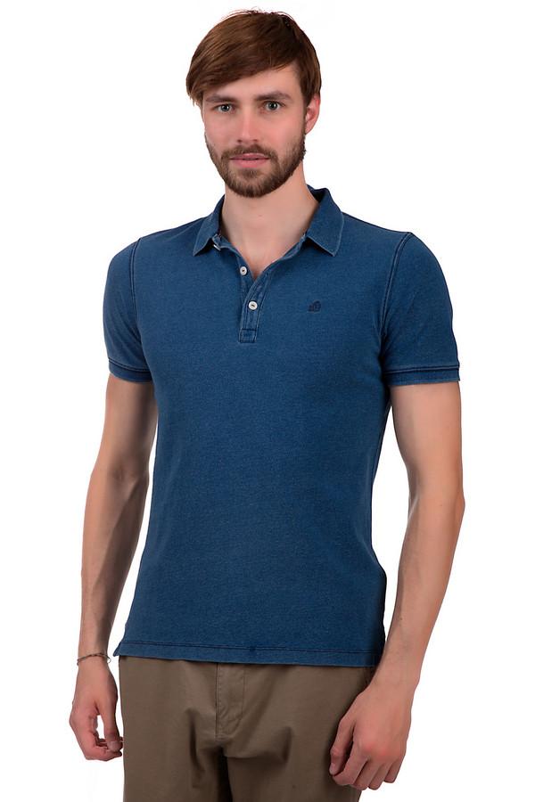 Поло s.OliverПоло<br>Мужское поло из 100% хлопка. Это поло от бренда s.Oliver, выполненное в синем цвете с эффектом скреппинга. Изделие дополнено отложным воротником на пуговицах белого цвета, а также рукавом длиной до середины плеча с резинкой. На груди вышита небольшая эмблема бренда.<br><br>Размер RU: 50-52<br>Пол: Мужской<br>Возраст: Взрослый<br>Материал: хлопок 100%<br>Цвет: Синий