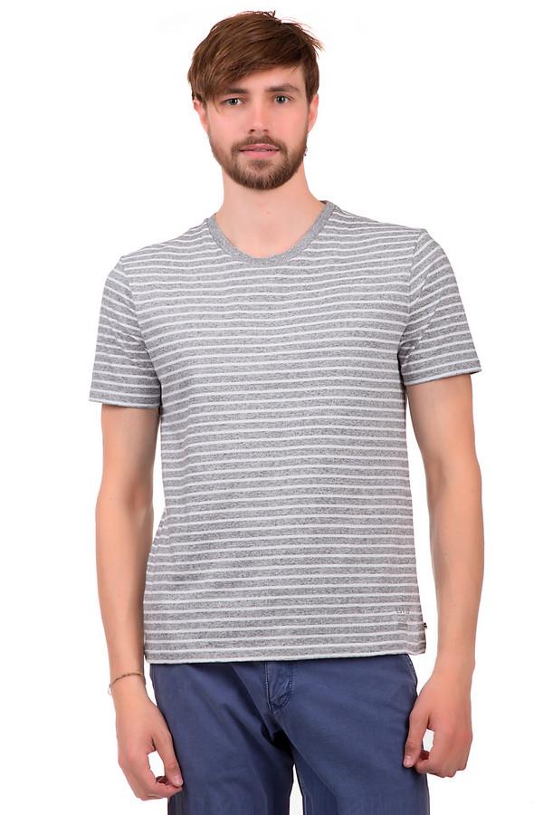Футболкa CalamarФутболки<br>Футболка для мужчин, от бренда Calamar. Это футболка серого цвета, в белую полоску, выполненная из ткани, которая на 100% состоит из хлопка. Изделие дополнено круглым вырезом и коротким рукавом длиной до середины плеча.<br><br>Размер RU: 50-52<br>Пол: Мужской<br>Возраст: Взрослый<br>Материал: хлопок 100%<br>Цвет: Белый