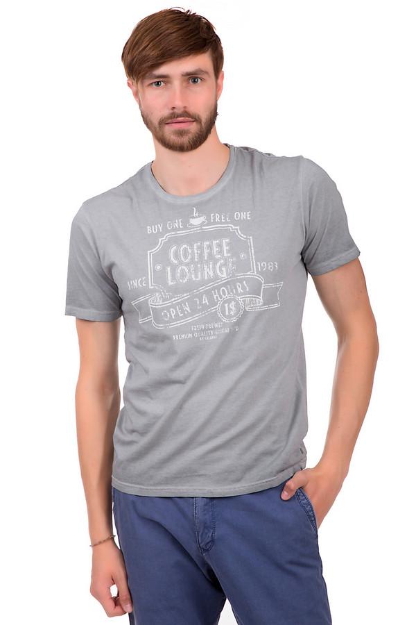 Футболкa CalamarФутболки<br>Мужская футболка серого цвета с принтом белого цвета с эффектом скреппинга. Это футболка от бренда Calamar, выполненная из 100% хлопка. Изделие дополнено круглым вырезом и рукавом длиной до середины плеча.<br><br>Размер RU: 54-56<br>Пол: Мужской<br>Возраст: Взрослый<br>Материал: хлопок 100%<br>Цвет: Белый