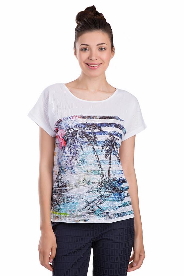 Футболка PassportФутболки<br>Молодежная женская футболка Passport белого, черного, розового, голубого и синего цветов. Это изделие было выполнено из хлопка и полиэстера. Данная модель предназначена для летнего сезона. Она дополнена изображением пальм, синими полоскам на белом фоне. Футболка свободного кроя. Отлично сочетается как с юбками, так и со штанами.<br><br>Размер RU: 48<br>Пол: Женский<br>Возраст: Взрослый<br>Материал: полиэстер 50%, хлопок 50%<br>Цвет: Разноцветный