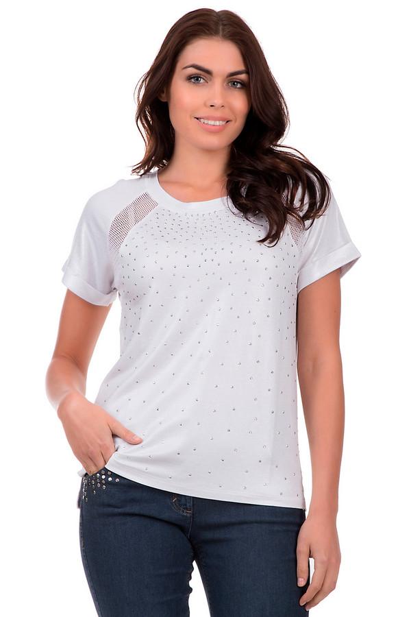 Футболка PassportФутболки<br>Белая женская футболка от бренда Passport спереди украшена металлическими стразами. Эта модель дополнена круглым вырезом, короткими рукавами с отворотом и декорирована вставками из белой сетки. Состав данного изделия - вискоза с добавлением эластана.<br><br>Размер RU: 40/42<br>Пол: Женский<br>Возраст: Взрослый<br>Материал: эластан 8%, вискоза 92%<br>Цвет: Белый
