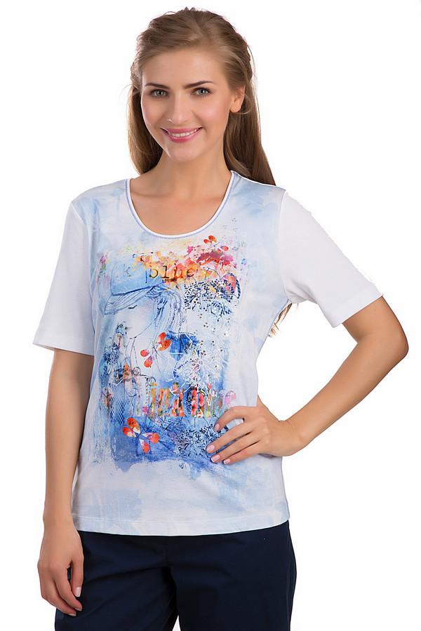 Футболка Rabe collectionФутболки<br>Женская футболка Rabe collection белого цвета. Это изделие было выполнено из хлопка и эластана. Эта модель является летней. Она дополнена ярким изображением девушки в кепке на белом фоне. Футболка свободного кроя. Рукава слегка удлинены. Сочетается как с однотонной, так и с разноцветной одеждой.<br><br>Размер RU: 54<br>Пол: Женский<br>Возраст: Взрослый<br>Материал: хлопок 92%, эластан 8%<br>Цвет: Разноцветный