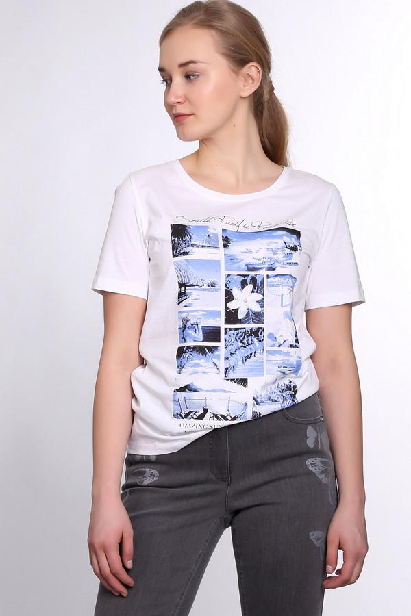 Футболка Via AppiaФутболки<br>Стильная женская футболка Via Appia белого цвета. Это изделие было выполнено из натурального хлопка. Эта модель предназначена для летнего сезона. Она дополнена летними изображениями в синих, черных и белых тонах и серебристыми камнями. Футболка свободного кроя. Рукава слегка удлинены. Сочетается как с однотонной, так и с разноцветной одеждой.<br><br>Размер RU: 50<br>Пол: Женский<br>Возраст: Взрослый<br>Материал: хлопок 100%<br>Цвет: Разноцветный