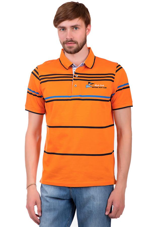 Поло Monte CarloПоло<br>Яркое мужское поло от бренда Monte Carlo. Это изделие выполненное из 100% хлопка и ткани оранжевого цвета с полосками темно-синего и ярко-голубого цвета. Изделие дополнено отложным воротником и рукавами длиной до середины плеча. Кроме того, на груди есть вышивка эмблемы фирмы и боковые вырезы снизу.<br><br>Размер RU: 54-56<br>Пол: Мужской<br>Возраст: Взрослый<br>Материал: хлопок 100%<br>Цвет: Разноцветный