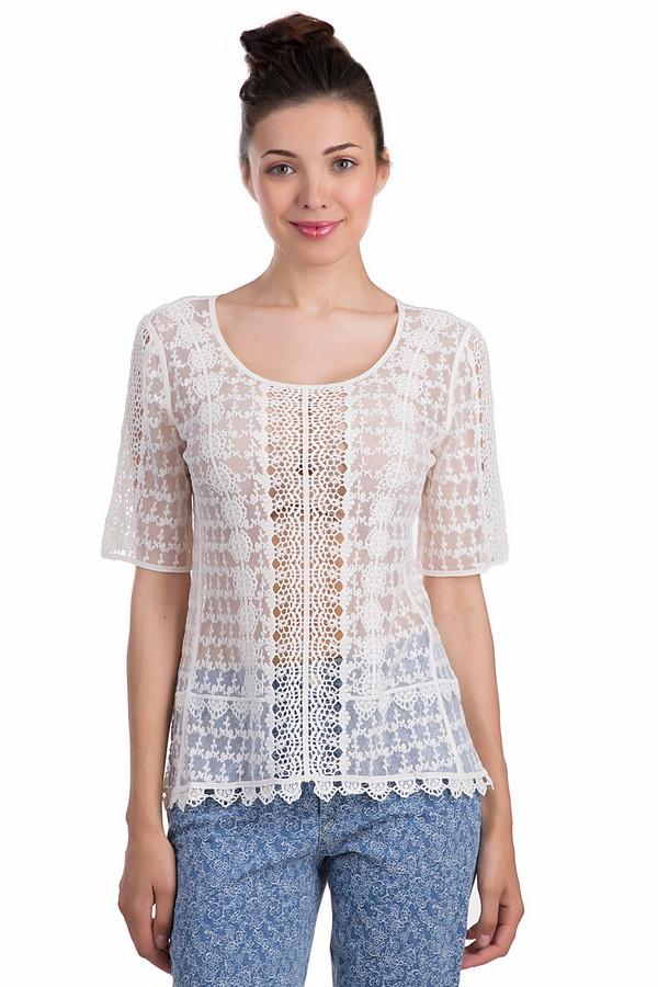 Блузa ApanageБлузы<br>Женственная блуза Apanage белого цвета. Данная модель была сделана из хлопка и полиамида. Изделие является летним. Оно дополнено красивыми узорами и снизу деталями, связанными крючком. Рукава у этой модели укорочены. Эта легкая блуза придаст любому скучному повседневному образу нежности и романтичности.<br><br>Размер RU: 48-50<br>Пол: Женский<br>Возраст: Взрослый<br>Материал: хлопок 45%, полиамид 55%<br>Цвет: Белый