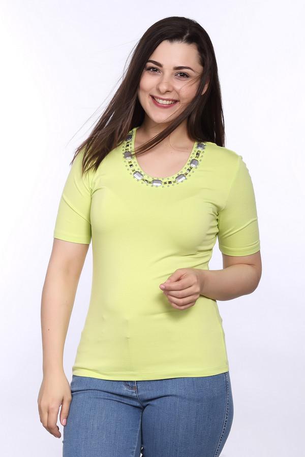 Футболка Betty BarclayФутболки<br>Женская летняя футболка от бренда Betty Barclay. Данная модель выполнена в желтом цвете, дополнена рукавами длиной до середины плеча и U-образным вырезом, украшенным сочетанием бисера и металла. Изделие состоит из вискозы с добавлением эластана.<br><br>Размер RU: 42<br>Пол: Женский<br>Возраст: Взрослый<br>Материал: эластан 5%, вискоза 95%<br>Цвет: Жёлтый