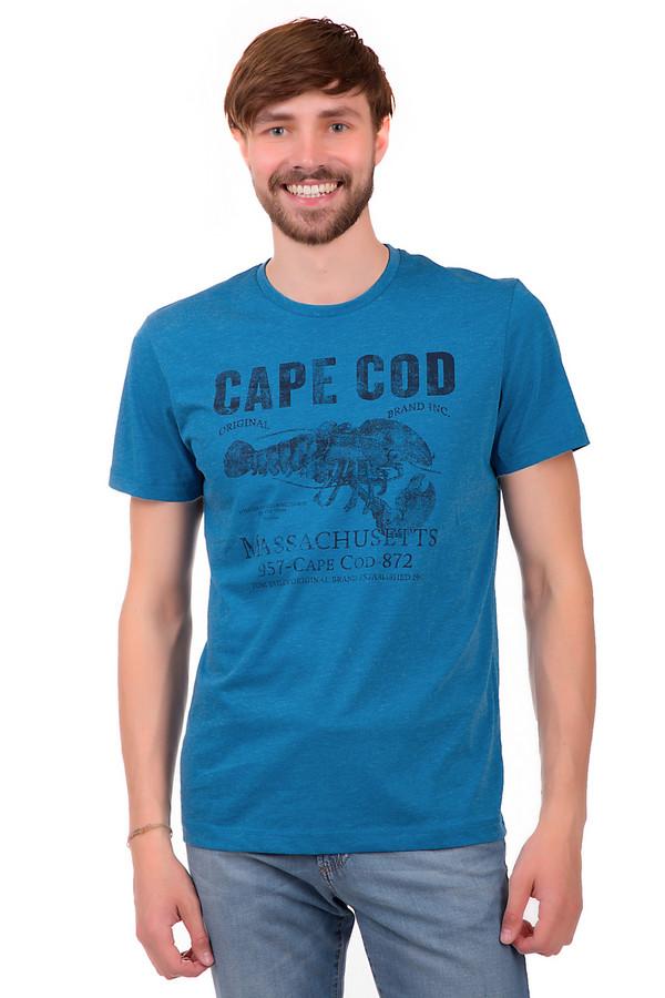 Футболкa Tom TailorФутболки<br>Стильная мужская футболка от Tom Tailor. Данная футболка выполнена их материала, который на 60% состоит из хлопка и на 40% из полиэстера. Эта модель представлена в голубом цвете и дополнена принтом черного цвета. Изделие дополнено рукавом длиной до середины плеча и круглым вырезом.<br><br>Размер RU: 44-46<br>Пол: Мужской<br>Возраст: Взрослый<br>Материал: хлопок 60%, полиэстер 40%<br>Цвет: Чёрный