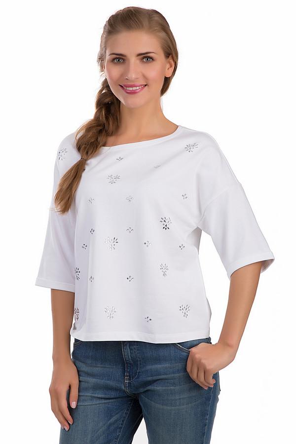 Футболка BaslerФутболки<br>Легкая женская футболка Basler белого цвета. Изделие было выполнено из эластана, хлопка и модала. Данная модель предназначена для летнего сезона. Она дополнена маленькими цветами, составленными из серебристых камней. Рукава у футболки удлинены. Изделие свободного кроя. Хорошо сочетается с одеждой разных цветов и стилей<br><br>Размер RU: 44<br>Пол: Женский<br>Возраст: Взрослый<br>Материал: эластан 4%, хлопок 48%, модал 48%<br>Цвет: Серебристый