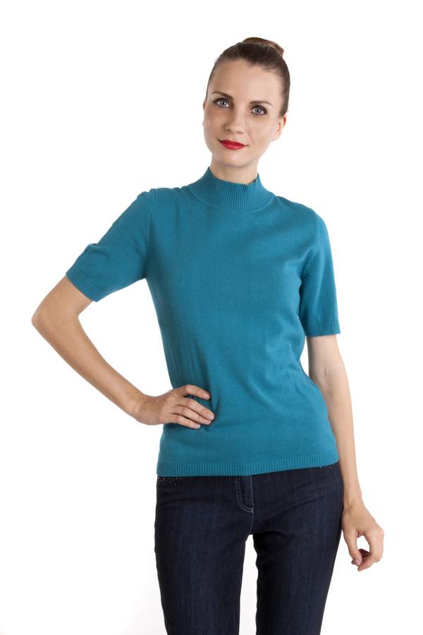 Пуловер PezzoПуловеры<br>Однотонный синий пуловер Pezzo приталенного кроя. Изделие дополнено: круглым вырезом и короткими рукавами. Ворот, манжеты и нижний кант оформлены трикотажной резинкой. Рукава декорированы вязанным объемным рисунком.<br><br>Размер RU: 46<br>Пол: Женский<br>Возраст: Взрослый<br>Материал: вискоза 33%, хлопок 18%, полиамид 23%, шерсть 18%, кашемир 4%, ангора 4%<br>Цвет: Голубой