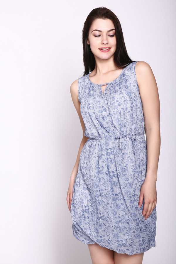 женское платье без рукавов tuzzi, синее