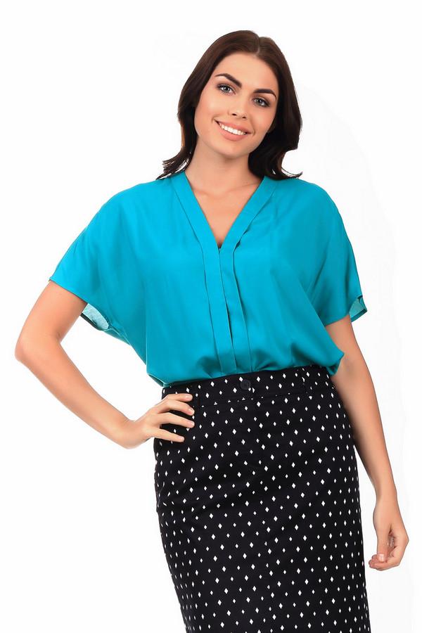 Блузa ErfoБлузы<br>Лазурно-бирюзовая летняя блуза от бренда Erfo свободного кроя. V-образный вырез придает дополнительную строгость и делает модель пригодной для ношения в офисе. Блузку можно как носить навыпуск, так и заправлять в юбку или брюки. Страна-производитель – Литва. Материал – вискоза.<br><br>Размер RU: 48<br>Пол: Женский<br>Возраст: Взрослый<br>Материал: вискоза 100%<br>Цвет: Зелёный