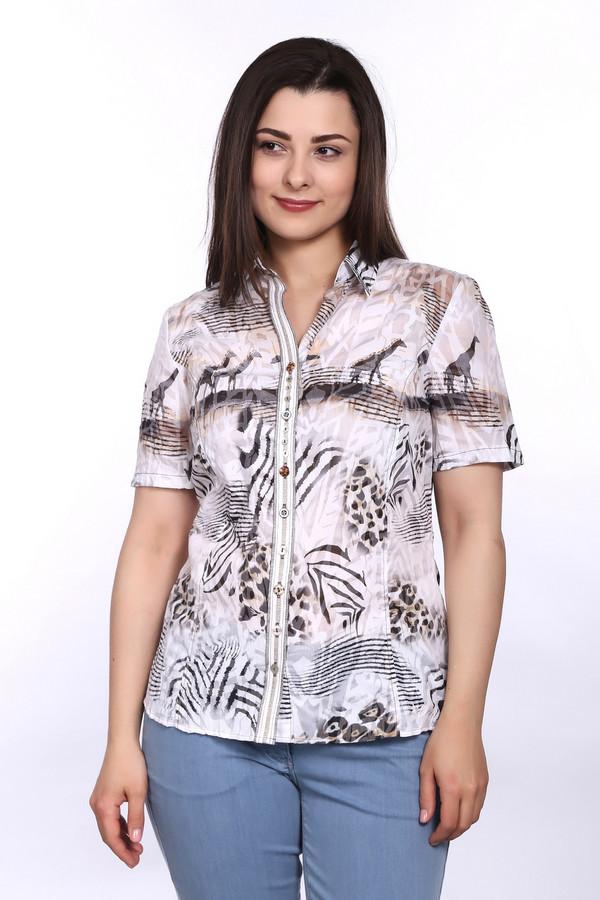 Блузa SE StenauБлузы<br>Экзотическая и лёгкая летняя блуза от бренда SE Stenau декорирована в соответствии с мотивами дикой фауны. Застегивается на пуговицы. Рукав «тюльпан» придаёт изделию еще большую визуальную легкость. Блуза изготовлена в Македонии и выполнена из полиэстера и хлопка, что обеспечивает прохладу во время жаркой погоды. Доступна в таких цветах, как белый, черный, оранжевый, бежевый, коричневый.<br><br>Размер RU: 48<br>Пол: Женский<br>Возраст: Взрослый<br>Материал: хлопок 35%, полиэстер 65%<br>Цвет: Разноцветный