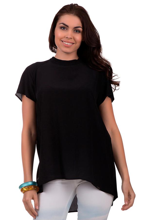 Блузa CinqueБлузы<br>Свободная черная блуза от бренда Cinque с рукавами-тюльпанами будет великолепно смотреться. Изделие дополнено удлиненной спинкой и красивым овальным вырезом на спине. Выполненная на 100% из натурального шелка, обеспечит необходимую прохладу в жаркое время года. Застёгивается сзади на две пуговицы, расположенных на вороте. Прекрасно подойдёт как для работы в офисе, так и для прогулок в свободное время. Произведена в Македонии.<br><br>Размер RU: 44<br>Пол: Женский<br>Возраст: Взрослый<br>Материал: шелк 100%<br>Цвет: Чёрный