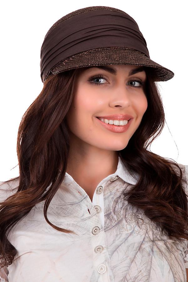 Кепка SeebergerКепки<br>практичная женская кепка от бренда Seeberger светлого бежевого цвета. Данное изделие выполнено полностью из соломы. Предназначено для летнего сезона. Модель дополнена широким козырьком и деталью из ткани темнее, чем цвет кепки. Тканевая вставка разделяет козырёк от основы головного убора. Отлично защищает голову от пагубного влияния солнечных лучей. При этом является стильным аксессуаром.<br><br>Размер RU: один размер<br>Пол: Женский<br>Возраст: Взрослый<br>Материал: солома 100%<br>Цвет: Коричневый