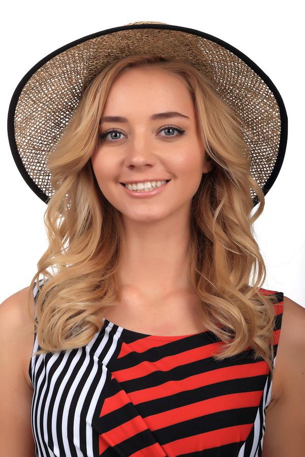 Шляпа SeebergerШляпы<br>Стильная шляпа от бренда Seeberger с элементами черного цвета. Изделие выполнено полностью из соломы. Модель предназначена для летнего сезона. Эта шляпа широкополая. Дополнена тканевой вставкой, что разделяет основу от полей. Защитит от влияния солнечных лучей. Оригинальная шляпа сочетается с разными стилями и фактурами. Придаст летнему образу романтичности и нежности.<br><br>Размер RU: один размер<br>Пол: Женский<br>Возраст: Взрослый<br>Материал: солома 100%<br>Цвет: Чёрный