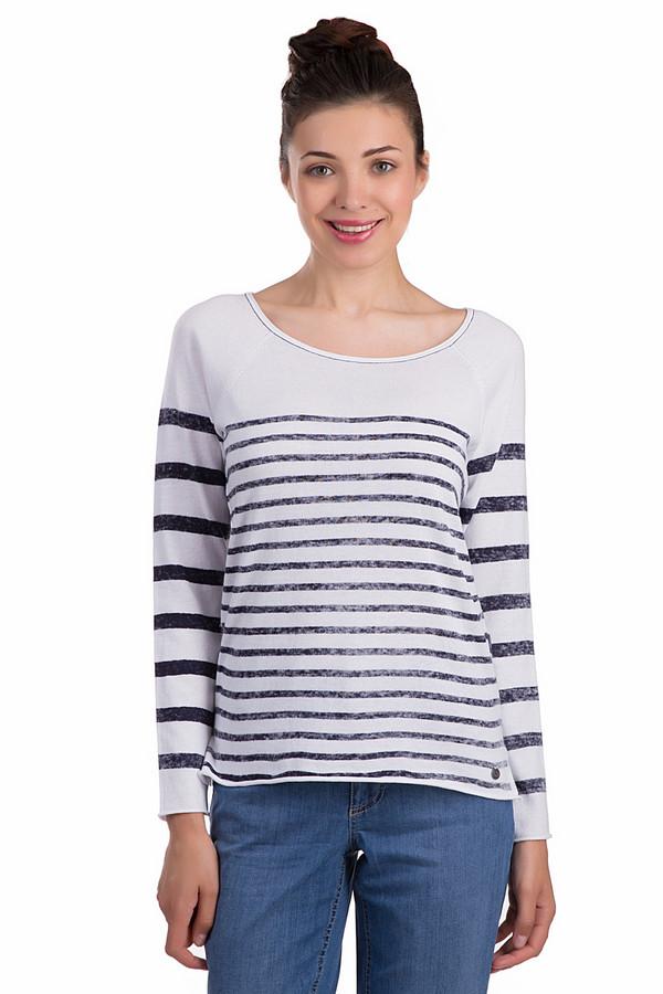 Пуловер LerrosПуловеры<br>Стильный женский пуловер Lerros в сине-белую полоску. Данное изделие было выполнено из натурального хлопка. Модель предназначена для демисезонного периода. Дополнена маленькими разрезами по бокам снизу. Вырез у изделия не глубокий и полукругом. Отлично сочетается с одеждой разных стилей, цветов и фактур.<br><br>Размер RU: 46<br>Пол: Женский<br>Возраст: Взрослый<br>Материал: хлопок 100%<br>Цвет: Синий