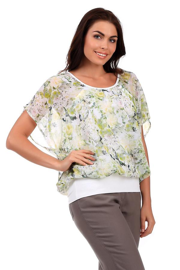 Блузa SteilmannБлузы<br>Свободная белая блуза от бренда Steilmann с эффектом многослойности, украшенная расцветкой в виде роз. Изделие дополнено просторными короткими рукавами из полупрозрачной ткани и u-образным вырезом. Рассчитана на летний сезон.<br><br>Размер RU: 46<br>Пол: Женский<br>Возраст: Взрослый<br>Материал: полиэстер 100%<br>Цвет: Разноцветный
