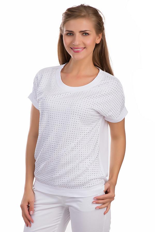 Блузa Via AppiaБлузы<br>Оригинальная женская блуза Via Appia белого цвета. Это изделие было выполнено из вискозы и эластана. Модель предназначена для летнего сезона. Она дополнена серебристыми камнями и резинкой снизу. Блуза свободного кроя. Изделие сочетается с одеждой разных цветов. Можно носить как со штанами, так и с юбками.<br><br>Размер RU: 44<br>Пол: Женский<br>Возраст: Взрослый<br>Материал: вискоза 90%, эластан 10%<br>Цвет: Серебристый