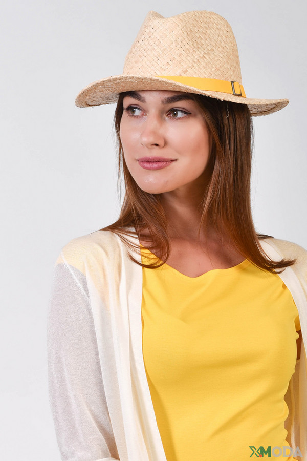 женская шляпа pezzo, бежевая