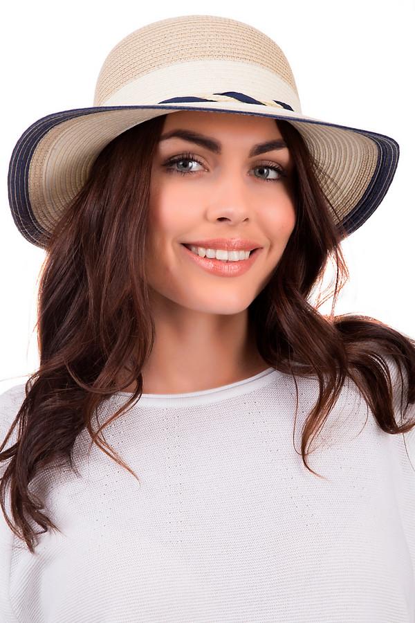 Шляпа WegenerШляпы<br>Стильная женская шляпка от бренда Wegener бежевого и синего цветов. Модель была сделана из целлюлозы. Изделие предназначено для летнего сезона. У шляпы широкие поля. Дополнена двумя шнурками синего и белого цветов, что переплетаются между собой и сзади завязываются в бант. Головной убор станет надёжной защитой от солнечных лучей. При этом, станет стильным аксессуаром.<br><br>Размер RU: один размер<br>Пол: Женский<br>Возраст: Взрослый<br>Материал: целлюлоза 100%<br>Цвет: Синий