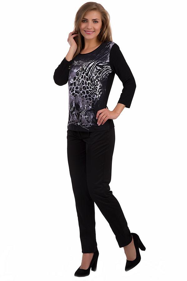 Брюки Betty BarclayБрюки<br>Стильные черные брюки-дудочки от немецкого бренда Betty Barclay незаменимая находка для любой модницы. Яркий цвет, приятная на ощупь ткань. Изделие дополнено: шлевками для ремня, двумя боковыми карманами на металлической молнии и двумя прорезными карманами сзади. Центральная часть застегивается на молнию и фиксируется на пуговицу. Спереди брюки декорированы вертикальными швами.<br><br>Размер RU: 44<br>Пол: Женский<br>Возраст: Взрослый<br>Материал: эластан 2%, хлопок 34%, полиамид 64%<br>Цвет: Чёрный